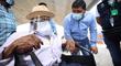 Ica: padre e hijo de 104 y 84 años recibieron vacuna contra la COVID-19