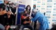 San Borja: Óscar Ugarte se vacunó contra la COVID-19 en  vacunatorio Limatambo