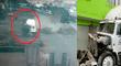 Callao: tráiler fuera de control impactó contra dos viviendas