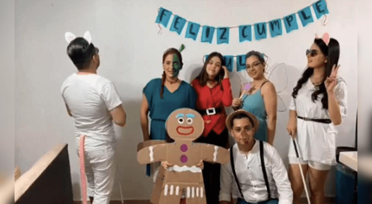 Familia festeja cumpleaños disfrazados de los personajes de Shrek y causan furor en TikTok [VIDEO]