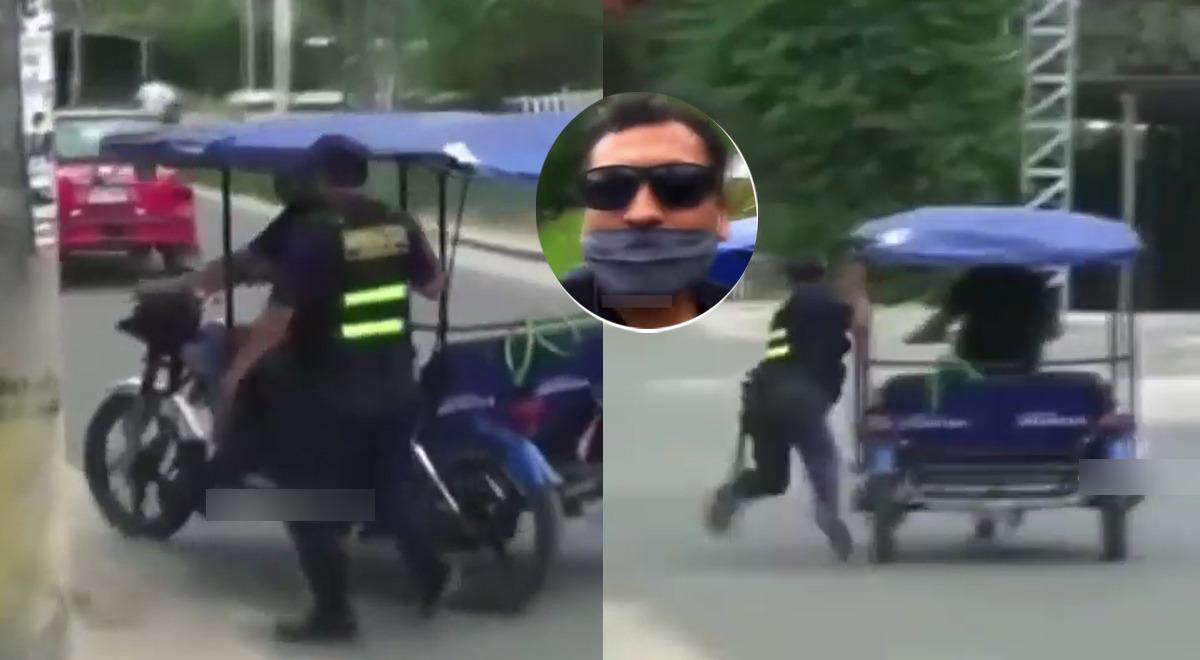 mototaxista-casi-arrastra-a-policia-tras-intervencion-y-se-justifica-estaba-apuradito-video