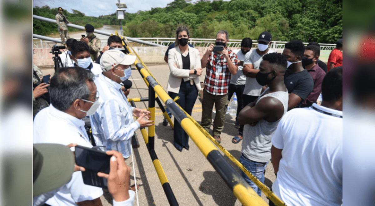madre-de-dios-migrantes-haitianos-piden-disculpas-por-abrupto-ingreso-al-pais-en-la-frontera-con-brasil