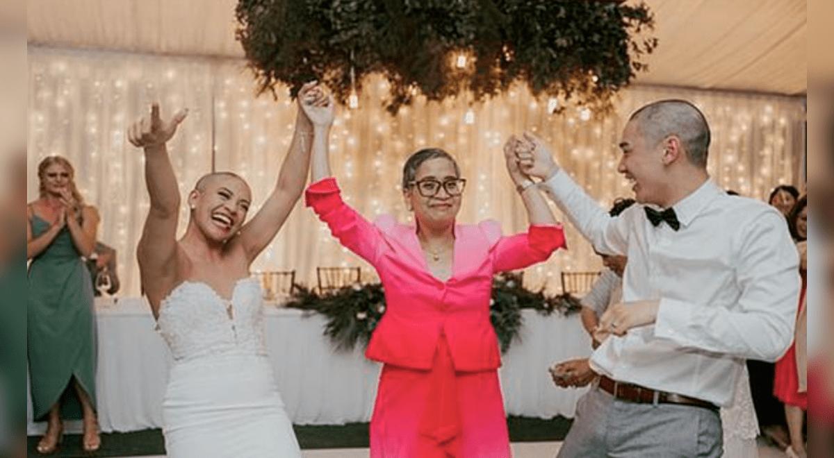 pareja-se-rapo-la-cabeza-durante-su-boda-en-apoyo-a-la-madre-de-la-novia-que-sufrio-de-cancer-video