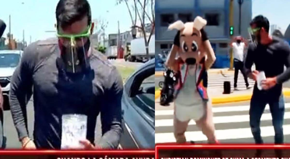 christian-dominguez-ayuda-a-artista-canguro-bailando-en-la-calle-para-recaudar-dinero