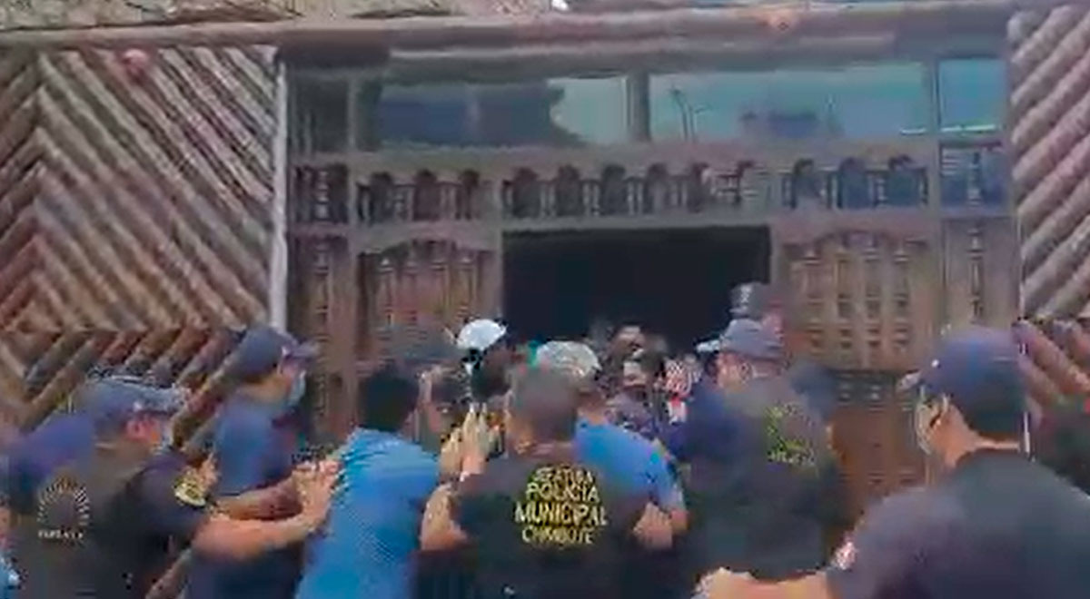 chimbote-comensales-escapan-de-restaurante-para-no-ser-detenidos-y-multados-video