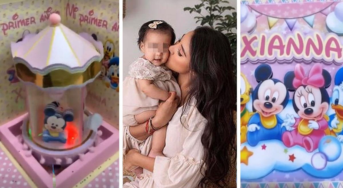 Samahara Lobatón emocionada con el primer año de su bebé.