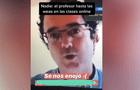Profesor tiene insólita reacción con alumno que pidió ir al baño en plena clase virtual [VIDEO]
