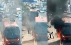 Bus se prendió en llamas en plena Panamericana Norte [VIDEO]
