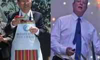 Ban Ki-Moon, secretario general de la ONU (izq.) y Al Gore, ex-vicepresidente de EE.UU. (der.)