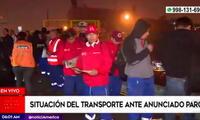Paro de transportes afecta a miles de trabajadores en Lima y Callao