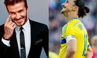 David Beckham se burla de Zlatan Ibrahimovic y le exige pagar su apuesta