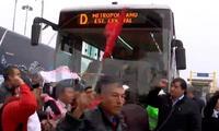 Profesores del Sutep protestan en vías del Metropolitano.