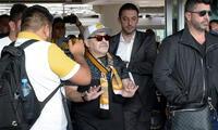 Maradona llegó a México