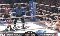 Floyd Mayweather derrotó a Kusawa en 42 segundos y cobró 88 millones de dólares [