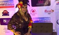 Ruth Karina realizó show de Año Nuevo con tobillo fracturado
