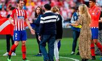 Godín celebró su despedida con su familia FOTO: EFE