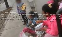 Los menores vendían productos en la calle y una mujer fue detenida por las autoridades