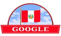 Este es el doodle dedicado al aniversario 198 del Día de la Independencia del Perú