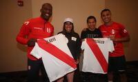 Gladys Tejeda y Christian Pacheco visitaron a la selección