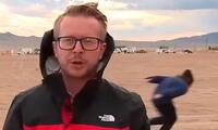 Joven interrumpió una transmisión en vivo al correr como Naruto el día de la toam del Área 51