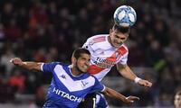 El peruano Abram tuvo una destacada actuación ene le cotejo que ganó Vélez 2 a 1 al River Plate . FOTO: Impulsobaires