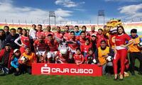 José Cuero y Luis García marcaron los goles del Cienciano ante Alianza Atlético. FOTO: FACEBOOK Cienciano