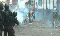 Manifestantes se enfrentaron a la policía en Ecuador