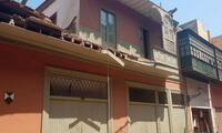 El balcón de tipo cajón se desplomó en tempranas horas