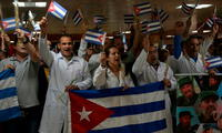 Médicos cubanos llegaron a La Habana procedentes de Bolivia
