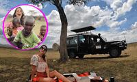 La modelo utilizó sus redes sociales para compartir algunas instantáneas de su viaje.