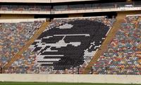 La imagen de este recordado jugador está pintada en una de las tribunas del Monumental