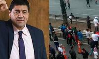 Sergio Ibarra no pudo llegar a tiempo al bloque deportivo de Latina