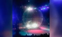Dos conductores terminaron en un violento choque en el circo ruso