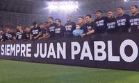 El fallecido futbolista Juan Pablo Vergara fue ovacionado en el Nacional