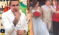 Farik Grippa se casó con madre de su hija tras 14 años juntos