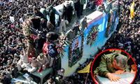 El cortejo fúnebre recorría las calles de Kermán, la ciudad natal del general persa