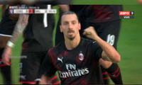 Zlatan Ibrahimovic se vuelve a encontrar con el gol en su retorno al Milan
