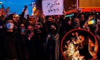 """""""Muerte al dictador"""", gritaban manifestantes en algunos videos publicados en redes sociales, dirigiendo su ira contra el líder supremo, el ayatolá Alí Jamenei"""