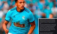 Lee el mensaje de Fernando Pacheco para todo Sporting Cristal