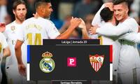Real Madrid recibe al Sevilla y quiere quedarse primero en la tabla. Sigue el partidazo por El Popular