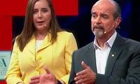 Rosa Bartra y Mauricio Mulder fueron criticados por su participación en el debate electoral