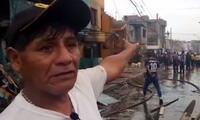 Las víctimas del incendio en Villa El Salvador viven una verdadera pesadilla