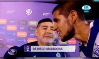 Luis Abram aprovechó la ocasión para llevarse un recuerdo junto a Diego Maradona