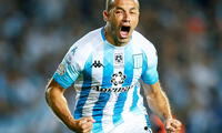 El centrocampista chileno Marcelo Díaz fue el encargado de abrir el marcador | Foto: @RacingClub