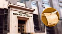 Universidad Nacional de Música realiza la convocatoria.