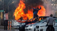 protestas en Chile en pleno Viña del Mar 2020.