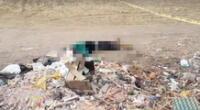 Cuerpo de la víctima a lado de desmonte en Pisco.