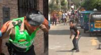 Mototaxistas informales agreden a los policías de Surco