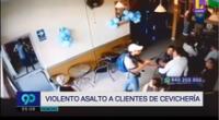 Cámaras de seguridad registraron violento asalto a cebichería
