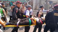 El delincuente fue llevado al Hospital Nacional Arzobispo Loayza